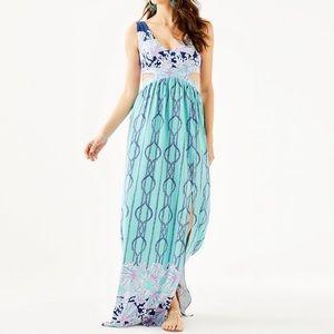 NWT- Lilly Pulitzer Marcia Maxi Dress- 10